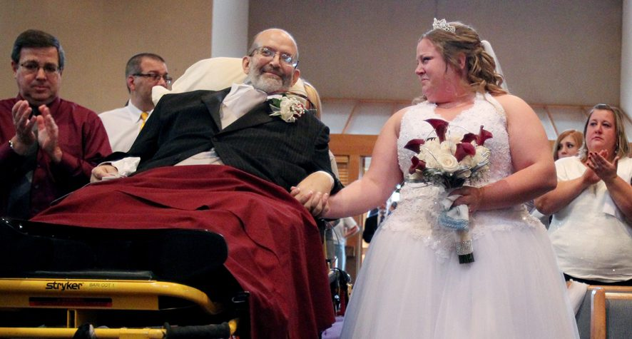 TERMINAL CANCER PATIENT, SCOTT NAGY, MAKES IT TO HIS DAUGHTER'S WEDDING CEREMONY