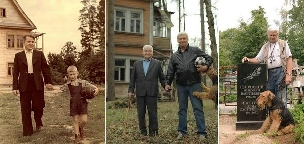 Um relacionamento de pai e filho com o passar dos anos.