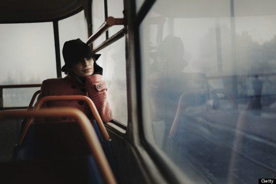 sitting alone subway