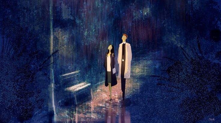 pareja-paseando-en-una-noche-de-lluvia