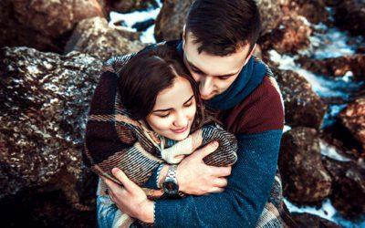 O abraço é um aperto