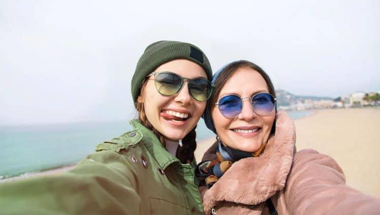 viajar com sua mãe pelo menos