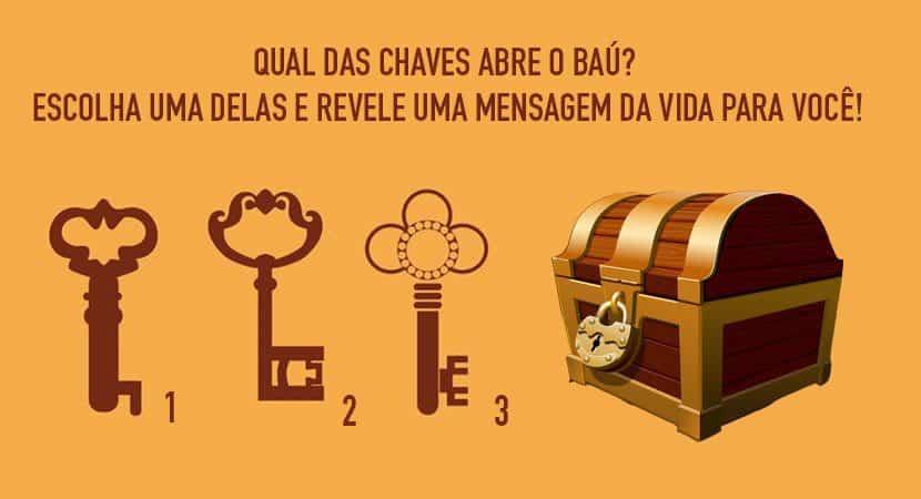 oamorqual chave você escolhe