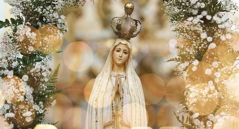 Nossa Senhora de Fatima uma senhora mais brilhante que o sol