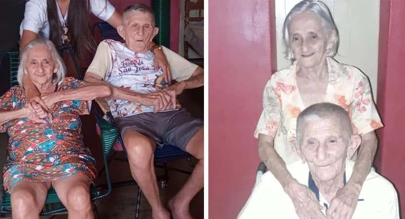 Capa Juntos ha 63 anos casal de idosos morrem de Covid 19 no mesmo dia Amor ate o fim