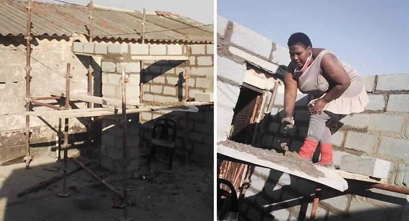 Capa Mulher quebra paradigmas e sozinha constroi sua propria casa. Inspiradora