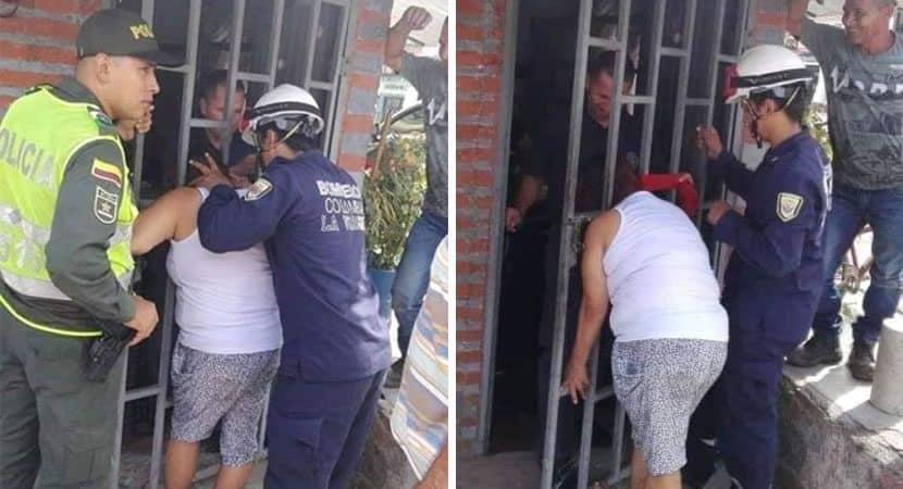 Capa Ao tentar espionar vizinho mulher fica com a cabeca presa por 5 horas em seu portao