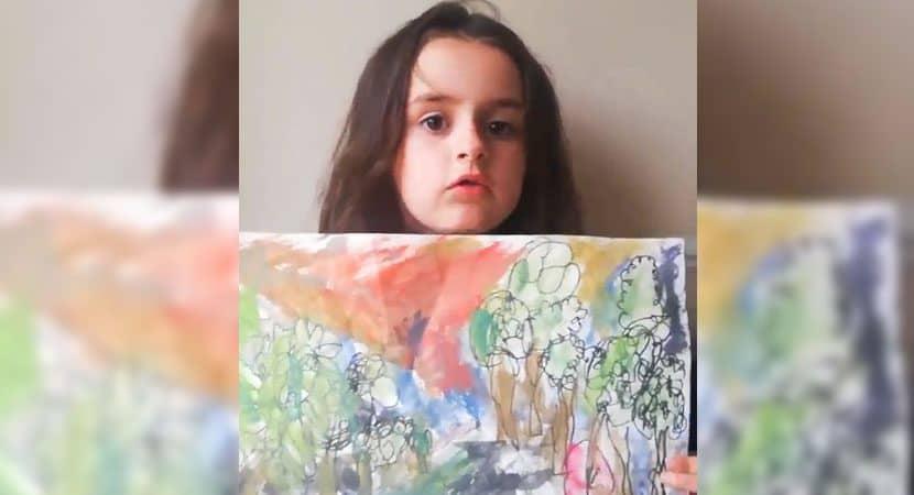 Capa Depois de professora considerar errada pintura feita por menina de 6 anos artistas dao apoio a pequena