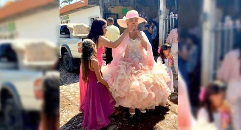 Capa Idosa realiza sonho de ter uma festa de 15 anos em seu 84 aniversario