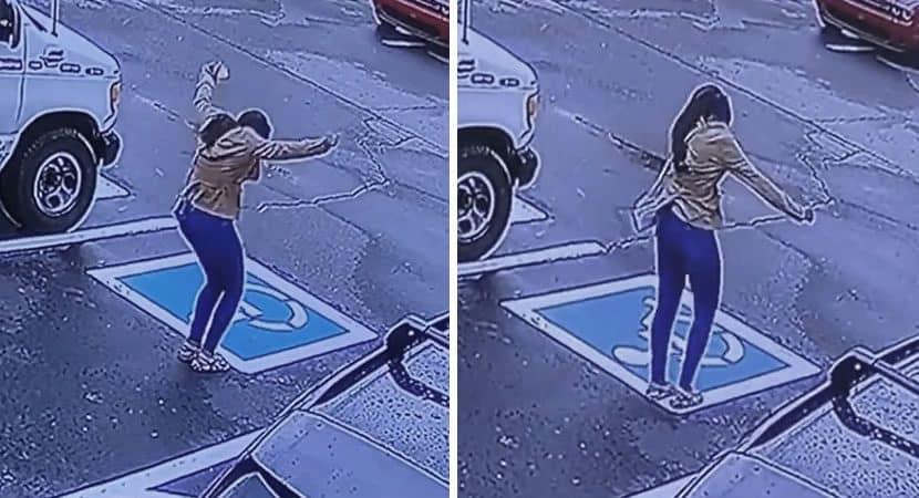 capajovem e flagrada dancando em estacionamento apos conseguir emprego Celebrava uma nova vida