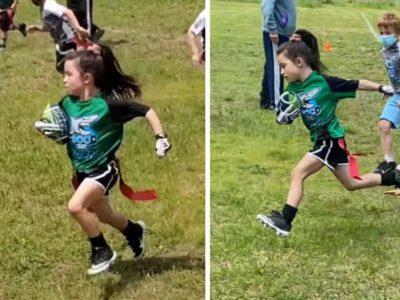 2 Capa Unica no time de futebol de bandeira garota de 6 anos prova que esporte nao tem genero