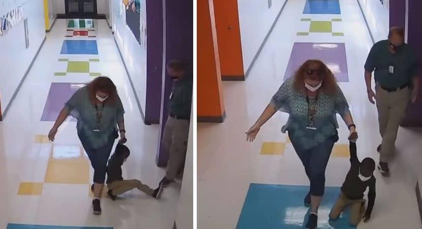 Capa Arrastado como boneca de pano Pais denunciam professores que puxaram filho de 6 anos pelo chao