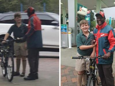 4 capa Menino de 10 anos usou todas as suas economias para dar bicicleta a frentista que ia trabalhar a pe