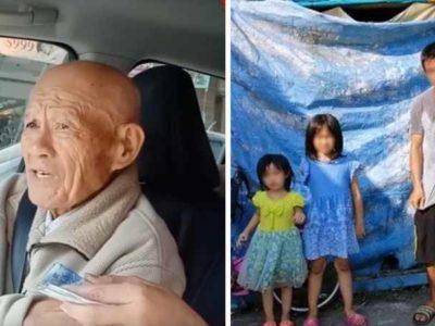 4 Senhor de 90 anos decide doar suas economias faz longa viagem e ajuda familia pobre com 3 criancas