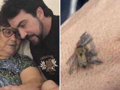 1 capa Impossivel conter as lagrimas Pe Fabio de Melo relembra mae ao ver abelha pousar em sua tatuagem