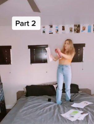 2 4 Mulher cola todas as mensagens de traicao do namorado na parede de seu quarto e recebe apoio da web
