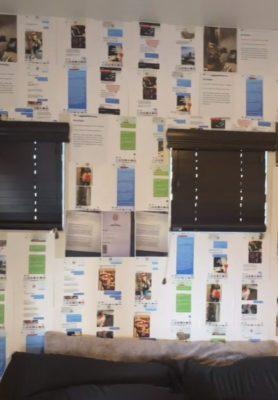 2 5 Mulher cola todas as mensagens de traicao do namorado na parede de seu quarto e recebe apoio da web