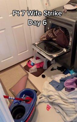 3 4 Mulher entra em greve e passa a registrar diariamente desorganizacao do marido Um caos